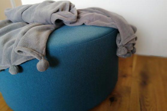 Velký válcový taburet – modrý